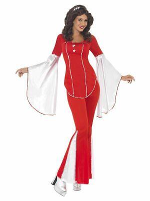 SMIFFY 33495 70er Jahre Super Trooper Musik Star Karneval Damen Kostüm rot S M - 70er Jahre Musik Kostüm