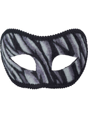 Adult or Child's Costume Accessory White Tiger Domino Eye Mask](Domino Masquerade Costume)