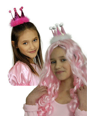 k oder Rosa Karneval Kostüm Accessoires Prinzessin (Prinzessin Kostüm Krone)