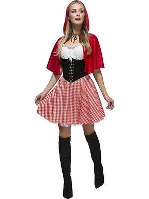 Damen Sexy Rotkäppchen Halloween büchertag Kostüm Kleid Outfit