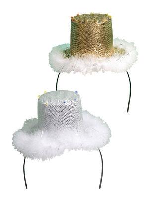 Minihut mit LED Licht Silvester Fasching