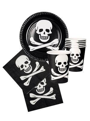 Party Tischgedeck Pirat Halloween Teller Becher Servietten