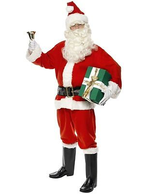 Men's Deluxe Santa Fancy Dress Costume Christmas Father Xmas Stag Theme Party Do