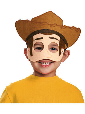 Childs Boys Girls Woody Toy Story Felt Half-Mask Toddlers Costume Accessory - Woody Halloween Costume Toddler