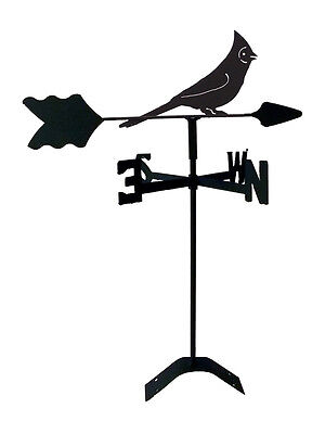 (cardinal  weathervane black wrought iron look roof mount made in usa tls1065rm)