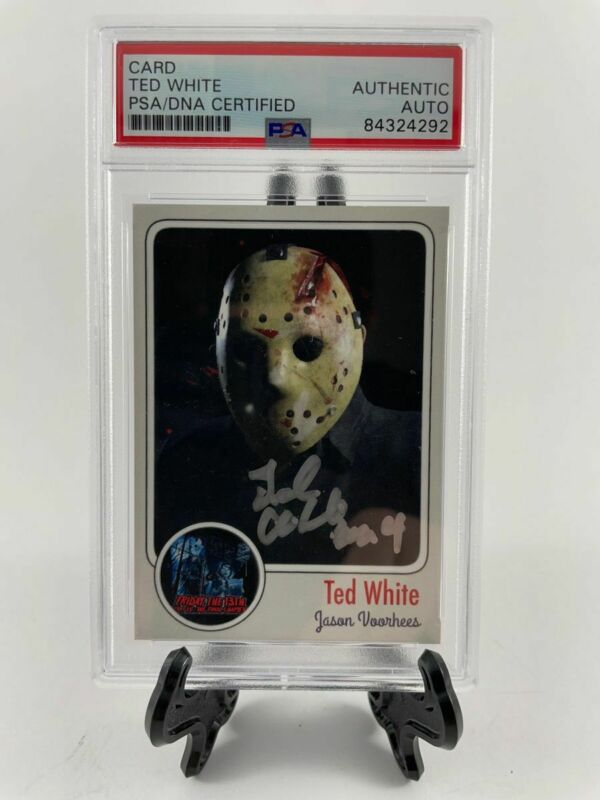 Ted White Signed Friday The 13th Custom Card B Autograph PSA/DNA Encapsulated