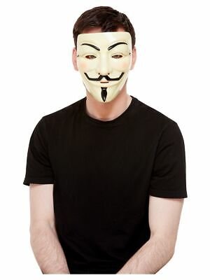or Vendetta Guy Fawkes Kostüm Halloween Gesichtsmaske (V For Vendetta Kostüme)