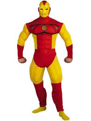 Iron Man Deluxe Muscle Chest Comic Book Adult Costume - Costume Bible