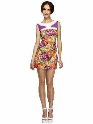 18.3ms Frieden / Love Kleid Mehrfarbig Kostüm Mini Kleid mit / Friedenssymbol
