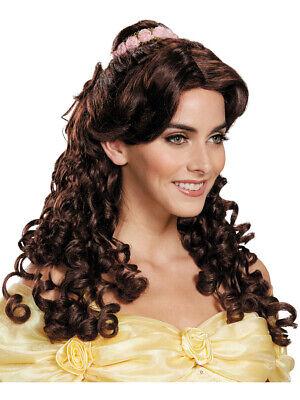 Adult's Ultra Prestige Disney Princess Belle Brown Wig Costume Accessory - Adult Belle Wig