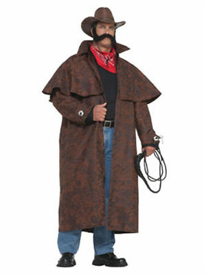 BIG TEX Adult Western Costume Duster Coat Halloween Sheriff Cosplay-XXXL    - Sheriff Duster