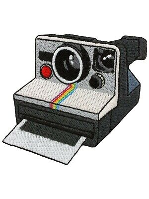 Retro Polaroid Camera Iron on Patch instant photo photograph photography gift
