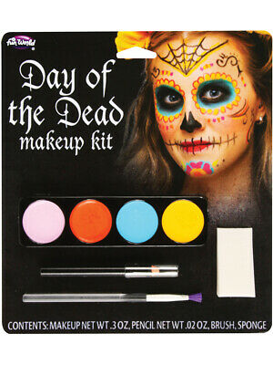 Day Of The Dead Sugar Spider Female Makeup Kit Set Costume Accessory](Day Of The Dead Makeup Kits)