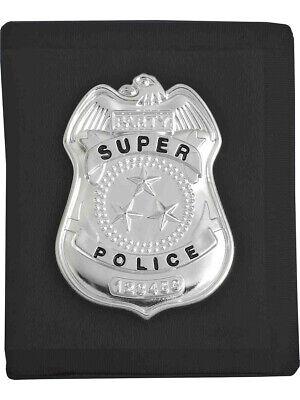 Costume Accessory Cop Badge With Black Wallet](Cop Badge Halloween)
