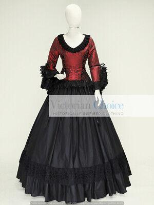Victorian Gothic Brocade Steampunk Dress Comic Con Cosplay Costume C001 XXXL