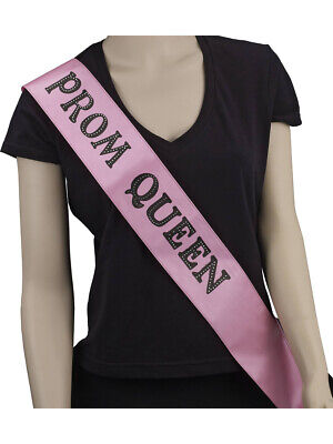 Adult's Womens High School Homecoming Prom Queen Sash Costume Accessory (Homecoming Queen Costume)