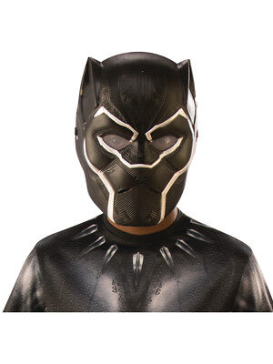 Child's Boys Black Panther Vibranium Armor Full Mask Costume Accessory