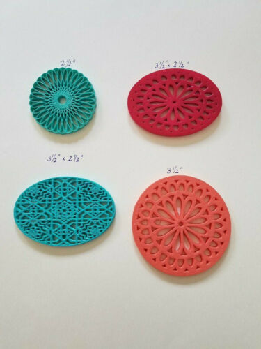 PINE NEEDLE BASKET BOTTOMS - 4 For $10. Various Sizes/Shapes NO DRILL New Colors
