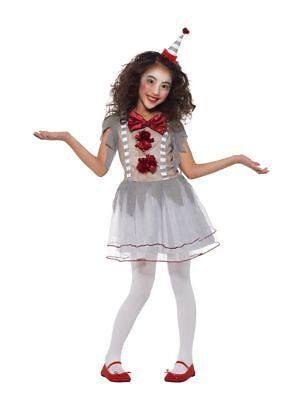 Girl's Vintage Clown Girl Halloween Fancy Dress Costume Kids Party School Disco