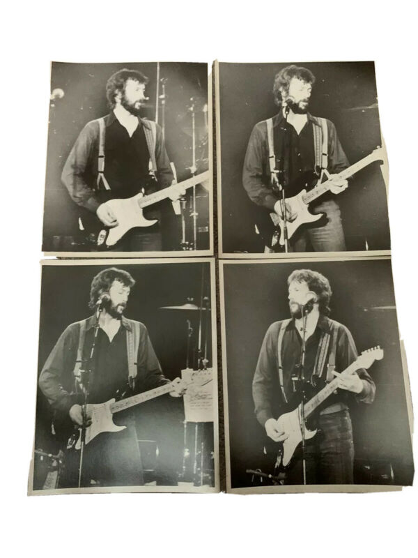 Lot of 4 Early Eric Clapton 8 x 10 photos In Black And White