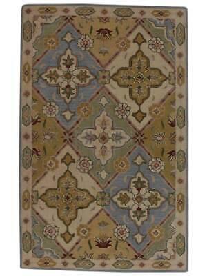 New Hand-Tufted Blue/Green Garden Design Bakhtiari Oriental Area Rug Wool 7x10 ()