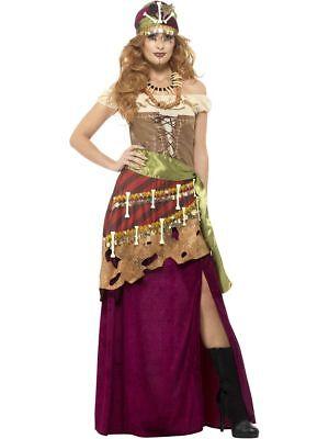 Voodoo Priesterin Zigeunerin Karneval Halloween (Halloween-kostüme Zigeunerin)