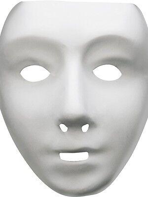 Roboter Weiß Maske mit Elastik Großartig für Halloween Trick oder Behandlung
