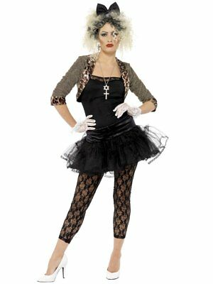Smiffys Madonna 80s Wild Child Singer Pop Music Womens Halloween Costume 36233 - 80s Music Costumes