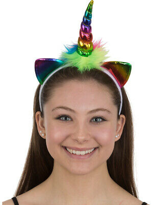 Metallic Rainbow Unicorn Headpiece Costume Accessory - Costume Headpiece