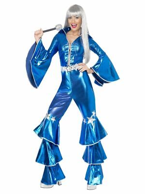 SMIFFY 41159 70er Jahre Musik Star Tanz Traum Disco Party Karneval Damen Kostüm - Disco Tanzen Kostüm