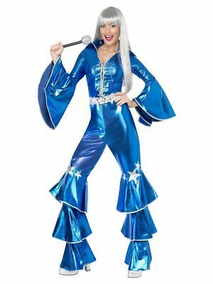 SMIFFY 41159 70er Jahre Musik Star Tanz Traum Disco Party Karneval Damen Kostüm - Abba Kostüm Damen