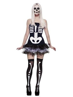Fever Skeleton Tutu Dress Adult Women Costume - Womens Skeleton Costume Dress