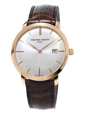 NEW FREDERIQUE CONSTANTSLIM LINE MENS AUTOMATIC 18 Kt ROSE GOLD WATCH FC-306V4S9