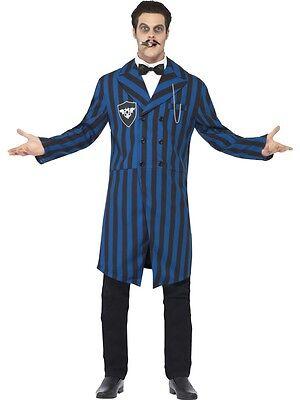 Mens Dark Duke Gomez Halloween TV Film Adams Family Fancy Dress Costume Outfit