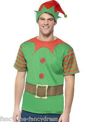 Herren Instant Elfen Satz Weihnachten Top Kostüm Kleid Outfit - Männliche Elfen Kostüm