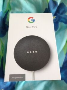 Brand New Sealed Google Nest Mini 2nd Generation Charcoal