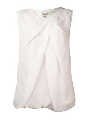 - Studio M Women's Draped Chiffon Bubble Top M, Off White