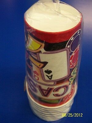 Neon Casino Night Poker Dice Slot Machine Prom Theme Party 16 oz. Paper Cups](Neon Themed Party)