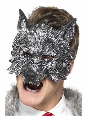 Smiffys Deluxe Big Bad Wolf Riding Hood Mask Halloween Costume Accessory 20348 - Big Bad Wolf Mask