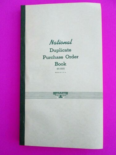 VINTAGE RECEIPT BOOK 450 Paper Forms Old Blank Purchase Order Records 150 Pg NOS