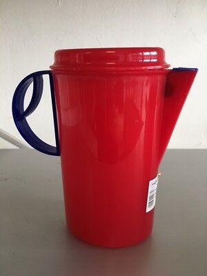Kanne Kühlschrankkanne Krug Saftkrug mit Deckel 1,5 Liter rot Gies *