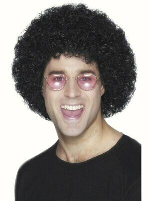 70's Black Afro Wig curly hair Fancy dress costume 60's 1970s Mens (1970 Mens Hair)