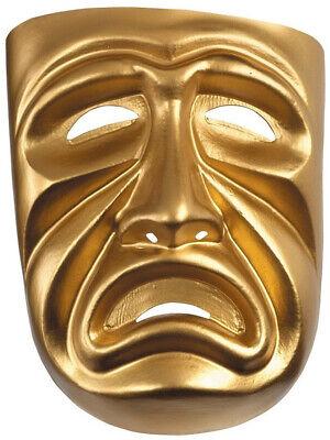 New Halloween Costume Unisex Sad Face Gold Tragedy Theatrical Mask](Sadness Costume Halloween)