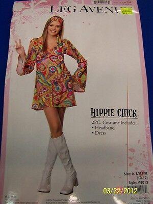 2 pc. Hippie Chick 60's Flower Child Girl Fancy Dress Up Halloween Teen Costume - 2 Teenage Girl Halloween Costumes