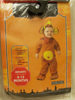 New Monkey & Banana Costume George Infant Size 6 to 12 Monthes - Baby Banana Costume