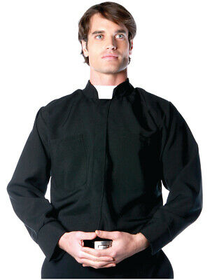 Priest Shirt Costume (Men's Long Sleeve Priest Costume Shirt Large)