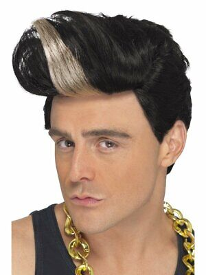 Smiffys 90s Rapper Quiff Vanilla Ice Wig Adult Halloween Costume Accessory 42009](Vanilla Ice Wig)