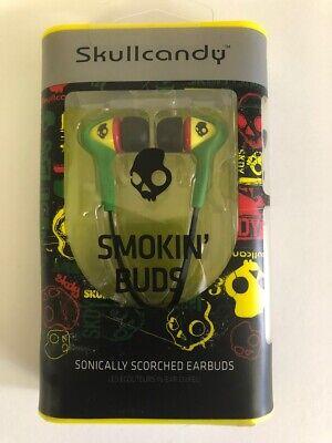 Skullcandy Smokin Buds In-Ear Earbuds in Rasta - New Smokin Bud Earbud Headphones