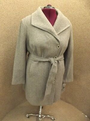 Fit & Flare NEW NWT Wool Tweed Belted A-Line Fall Winter Coat Womens 2X MRP $200