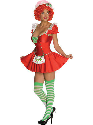 Strawberry Costume Women (Women's Sexy Adult Licensed Strawberry Shortcake)